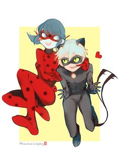 Look What The Chat Dragged In, muitotw:   Ladybug and Cat Noir( ^ω^ )