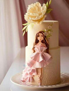 Girly Birthday Cakes, Elegant Birthday Cakes, Girly Cakes, Beautiful Birthday Cakes, Beautiful Cake Designs, Beautiful Cakes, Cake Decorating Techniques, Cake Decorating Tips, Pretty Cakes