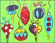 4th grade idea for Christmas painting