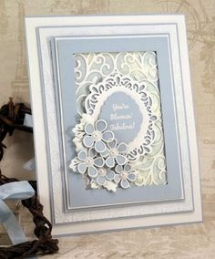 John Next Door: Sue Wilson scandinavian collection, camellia. Spellbinders Cards, Stampin Up Cards, Handmade Birthday Cards, Greeting Cards Handmade, Embossed Cards, Marianne Design, Mothers Day Cards, Pretty Cards, Paper Cards