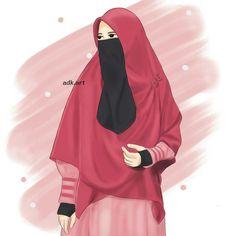 kumpulan anime muslimah bercadar keren - my ely Arab Girls, Muslim Girls, Film Anime, Anime Art, Muslim Pictures, Girly M, Islamic Cartoon, Hijab Cartoon, Hijab Fashionista
