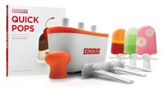 Popsicle Making Kit - make tasty ice pops in a mere seven minutes, with no electricity needed.