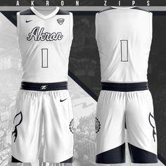 Akron Zips Home Uniform Team Uniforms, Basketball Uniforms, Sports Basketball, Basketball Jersey, Basketball Players, Akron Zips, Baskets, Sports Templates, Slam Dunk
