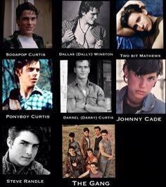 When they were making the outsiders they were like, We are just going to put the most good-looking actors in this movie