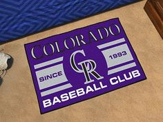 "Colorado Rockies Baseball Club Starter Rug 19""x30"""