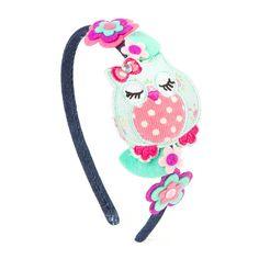 Sleeping Owl and Felt Flowers Headband | Claire's