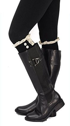 Spring Fever Exclusive Soft Cotton Lace Boot Cuff Billy w/Button Accent Spring Fever http://www.amazon.com/dp/B00HZV7F28/ref=cm_sw_r_pi_dp_iYkbwb10N255X