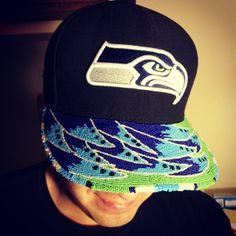 Latonia Andy Beadwork Seahawks Hat