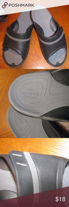 Duel Crocs Comfort Sandals Duel Crocs Comfort Sandals  Great walking shoes very comfortable  Men Size 9  Women  Size 11 CROCS Shoes Sandals & Flip-Flops
