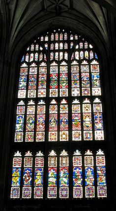 Stained Glass at Canterbury Cathedral --I wrote a paper about this place in college :-)