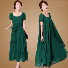 Plus size M-4XL Summer Dress 2017 New Women's Chiffon Dress Loose Slimmer Flouncing Full Dress Free shipping