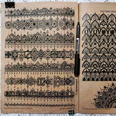 "Zareen Taj Hidhayath on Instagram: """"Pattern sheet"", hand drawn patterns in my book. As many of you requested I am reposting this pattern sheet again. Hope this helped. . .…"" Mandala Book, Mandala Art Lesson, Mandala Artwork, Mandala Drawing, Doodle Art Designs, Doodle Patterns, Zentangle Patterns, Mandala Pattern, Mandala Design"