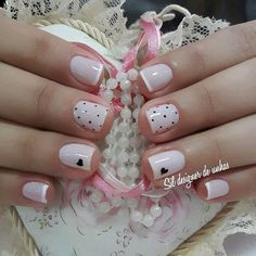Unhas Stileto Cute Nail Designs Short Nail Designs Gel Nails Acrylic Nails Pretty Nails Cute Nails Nail Colors Nails Only Short Nail Designs, Nail Art Designs, Nail Manicure, Diy Nails, Love Nails, Pretty Nails, Nagellack Design, Stylish Nails, French Nails