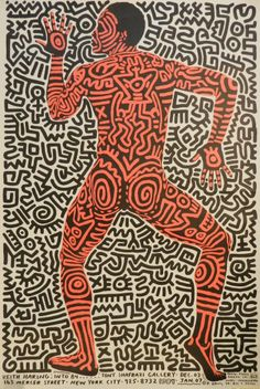 Keith Haring Tony Shafrazi Gallery Poster (liveauctioneers, 2013)