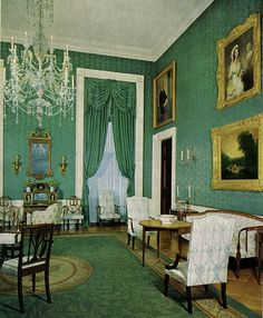 The Green Room, after the Kennedy restoration.