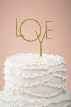 a lovely gold cake topper | Golden Days Cake Topper from @BHLDN