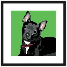 Pop Art Chihuahua Black, $39, now featured on Fab.
