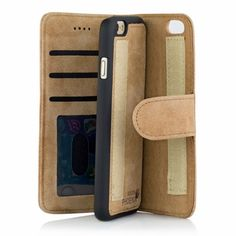 Golden Phoenix iPhone 6 Plus Handyhülle Royal Wildleder hellbraun