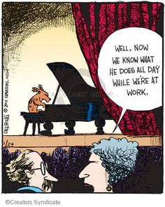 The Piano Comics And Cartoons Music Puns, Music Memes, Music Humor, Music Quotes, Funny Music, Piano Pictures, Funny Pictures, Musician Jokes, Dog Jokes