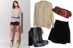 Belted oversized top