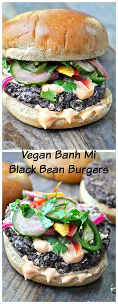 "<p style=""text-align: center;""><strong><span style=""font-family: georgia, palatino, serif;"">Vegan Banh Mi Black Bean Burgers</span></strong></p>"
