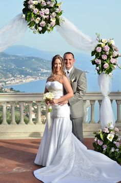 Husband & Wife after wedding in Italy