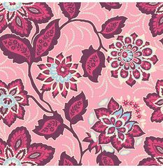 Ornate Floral Voile in Amethyst from Heirloom Voile by Joel Dewberry for Free Spirit