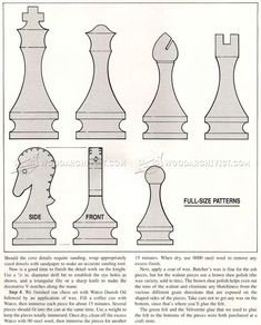 Band Saw Chess Pieces - Woodworking Plans and Projects - Woodwork, Woodworking, Woodworking Tips, Woodworking Techniques Intarsia Woodworking, Woodworking Toys, Woodworking Projects Plans, Lathe Projects, Woodworking Essentials, Wood Jig, Chess Pieces, Woodworking Techniques, Wood Working For Beginners