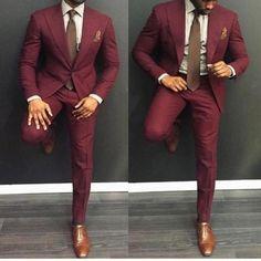 Green Custom Made 2019 Hot Sell Wedding Suits Groom Slim Fit Mens Business Suit Men's Suits Jacket + Pants + Tie Wedding Suits Business Suit Men's Suits Costume Marron, Prom Suits For Men, Best Mens Suits, Mens Slim Fit Suits, Men In Suits, Groom Suits, Slim Suit, Burgundy Suit, Maroon Suit Mens