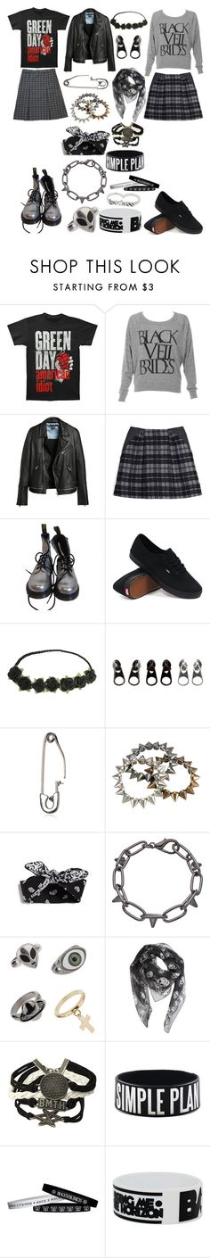 """""""Untitled #1887"""" by llamapoop ❤ liked on Polyvore featuring Thakoon Addition, Dr. Martens, Vans, Full Tilt, Viktor & Rolf, Blu Bijoux, Topman and Alexander McQueen"""