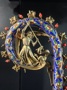 "greluc: "" A beautiful crosier with St. Michael """