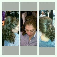 Headband braid with curls
