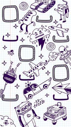 Doodles iPhone 5 wallpaper - Go to website for iPhone 4 version