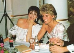 "September 19, 1991:  Princess Diana with Liza Minelli at the ""Stepping Out"" Premiere."