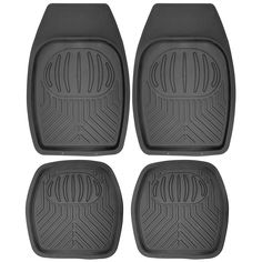 Awesome Great Car Floor Mats for Toyota Camry 4pc Set All Weather Rubber Pan Tech Fit Black 2017/2018