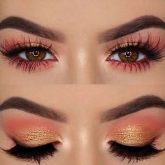 When you are applying eye shadow, you should always start with the lightest color to the darkest. So that your eyes will get depth.