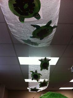 Decoración techo de la escuela