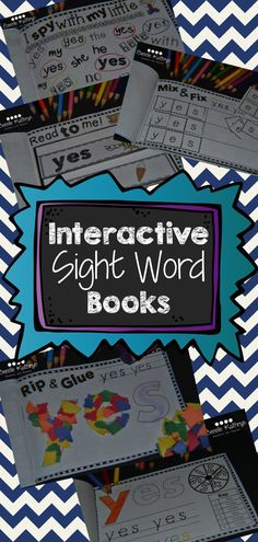 Students will love these interactive sight word books. Great for word work! Pre-Primer, Primer, and Dolch Lists available. Buy individual or buy the bundle. Teaching Sight Words, Sight Word Practice, Sight Word Activities, Literacy Activities, Literacy Centers, Kindergarten Language Arts, Kindergarten Literacy, Worksheets, Site Words