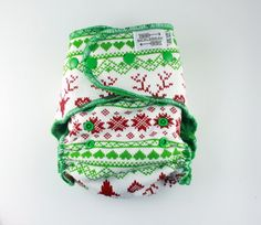 Christmas Cloth Diaper - One Size Fitted Cloth Diaper 8-35 lbs ...