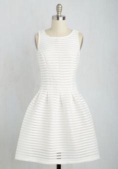Oh My Darlington Dress in White. What a fitting locale through which you flit this white dress! #white #modcloth