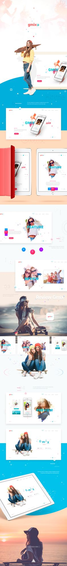 Website designed for new social app.