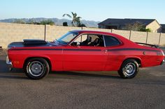 Red Plymouth Duster 340