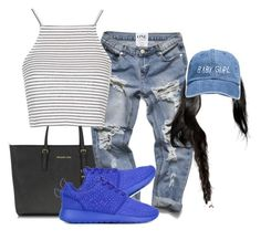 """""""blue"""" by simoneswagg ❤ liked on Polyvore featuring Michael Kors, Topshop and NIKE"""