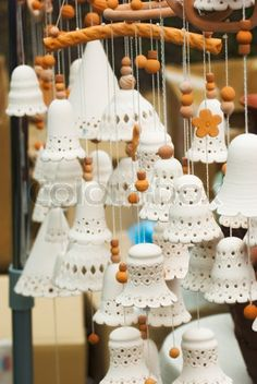 clay bells | Stock image of 'Clay products in the form of bells'