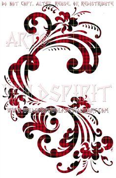 Tartan Norwegian Rosemaling Floral Design by WildSpiritWolf on ...