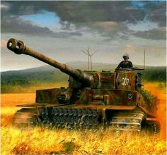 Michael Wittmann immortalized here riding in borrowed Tiger 007. This would be the tank aces last mission....the mission in which he would lose his life. The circumstances behind Wittmann's death have caused some debate and discussion over the years, but it had been accepted that Trooper Joe Ekins, the gunner in a Sherman Firefly of the 1st Northamptonshire Yeomanry, fired the round that destroyed his tank and killed Wittmann and his crew. The round penetrated the port armor of Wittmann's…