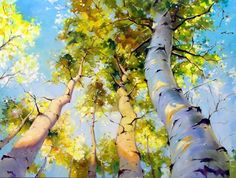 Morning Meadow by IVAN ALIFAN, whose work is so vibrant, life-like, and simply gorgeous! (plus this one is Birch trees, so I'm taken!)