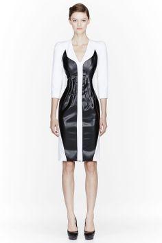 FASHION shopping   Altuzarra Leather Insert Baxter Poly Dressm $2,660