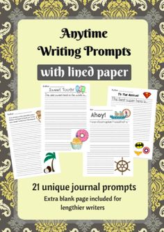 21 Unique Writing Prompts with Lined Paper from This & That on TeachersNotebook.com (23 pages)