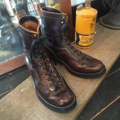 小島 親 shin kojimaさんはInstagramを利用しています:「CLINCH LINEMAN, #brasstokyo #clinchboots #laceupboots #horween #lineman #boots #茶芯」